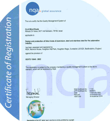 certificate iso-ts 16949